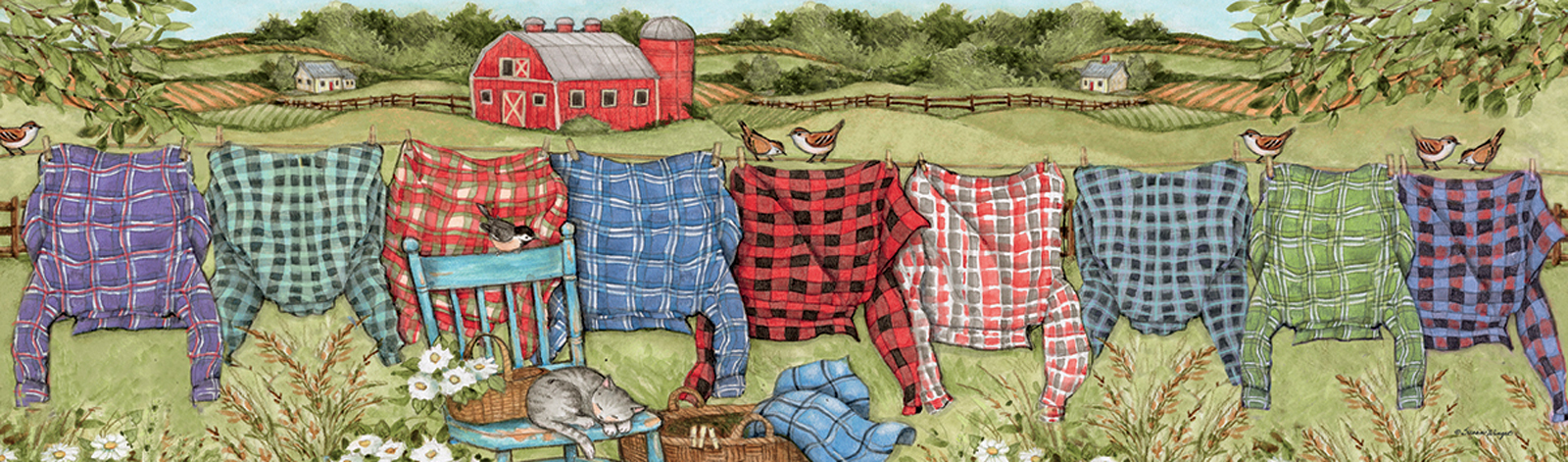 Favorite Flannel Everyday Objects Jigsaw Puzzle