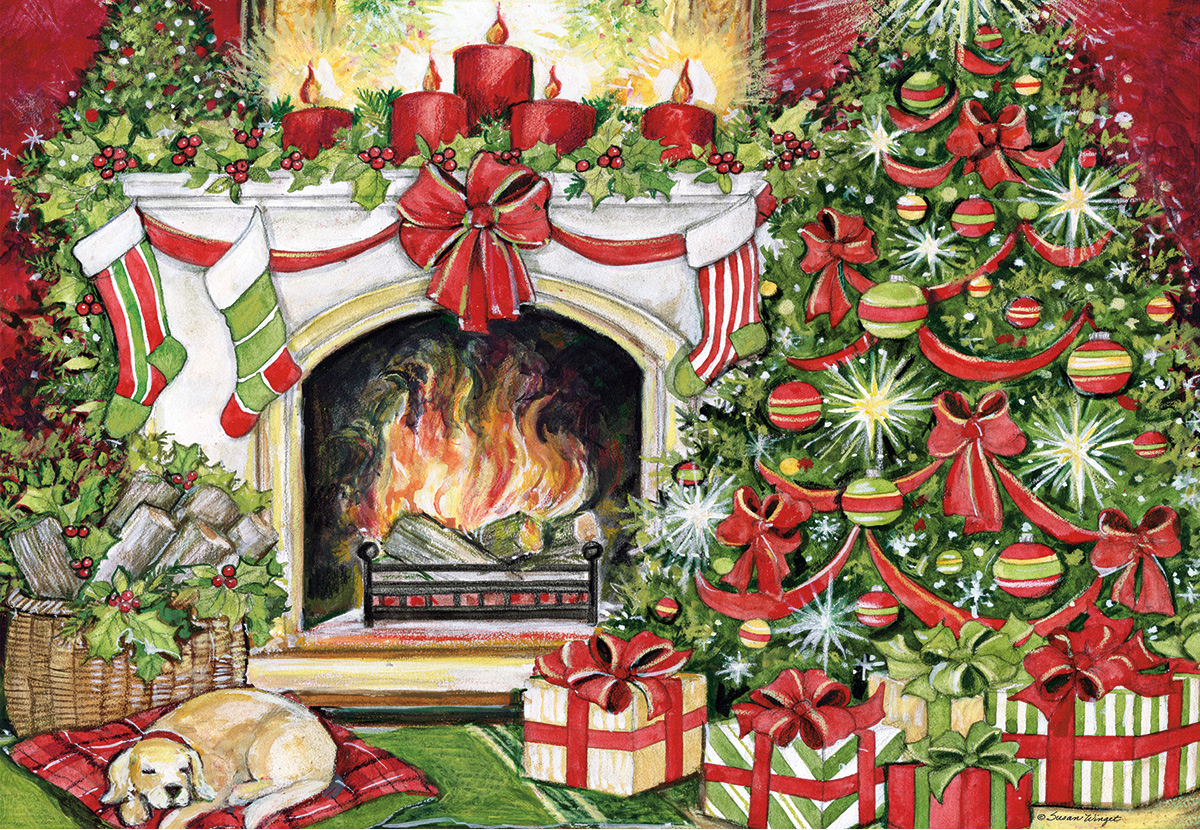 Christmas Warmth Dogs Jigsaw Puzzle