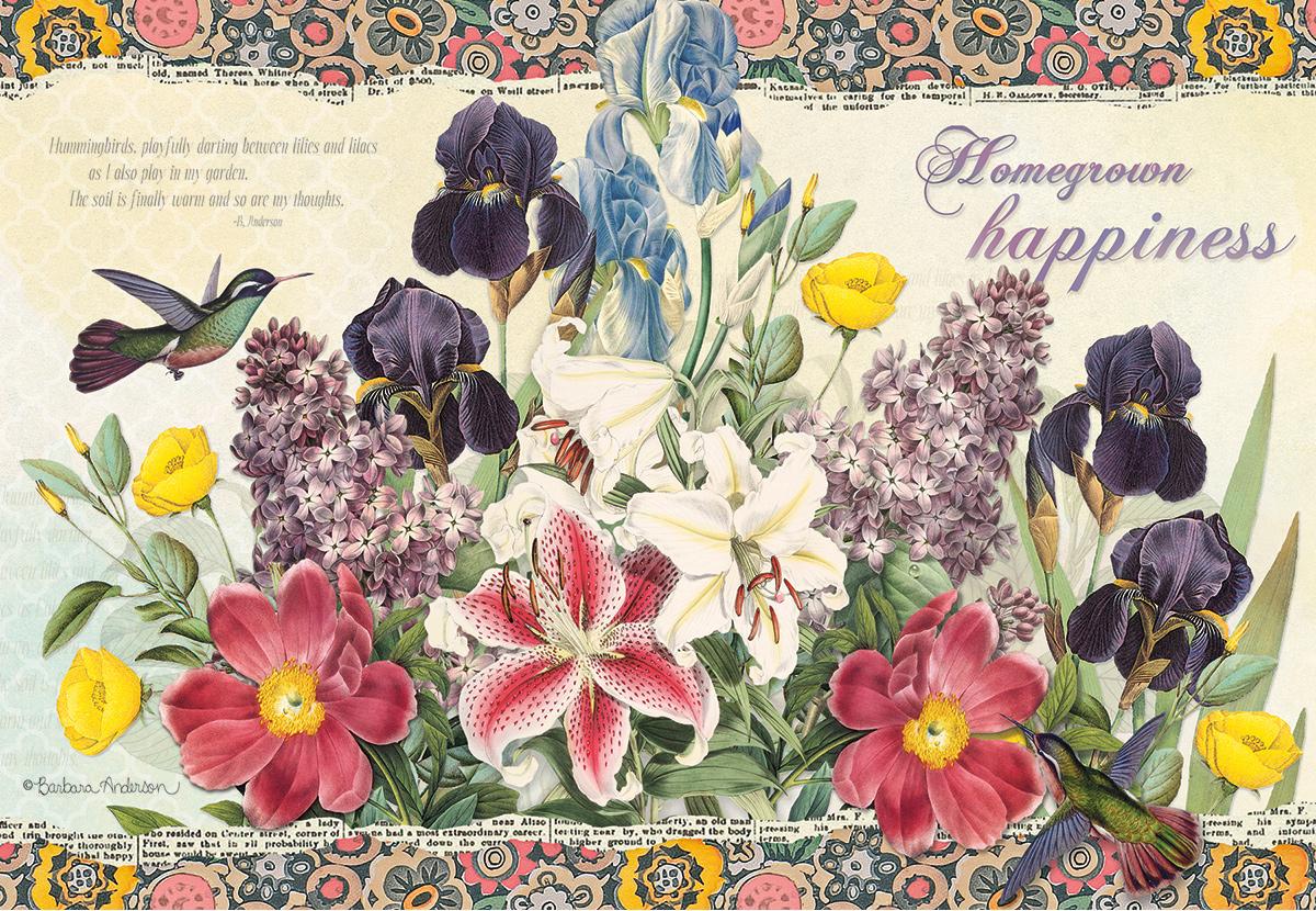 Garden Botanicals Flowers Jigsaw Puzzle
