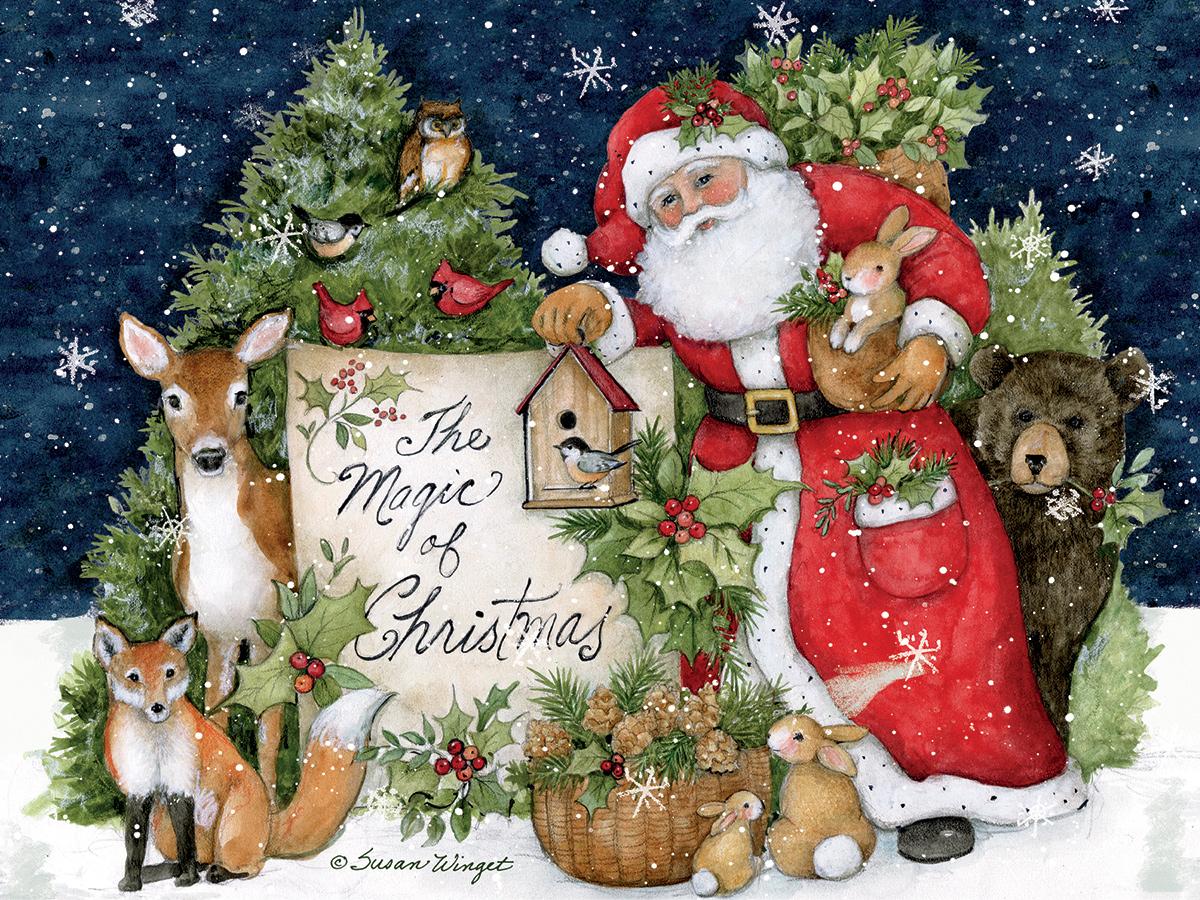 Magic Of Christmas Wildlife Jigsaw Puzzle