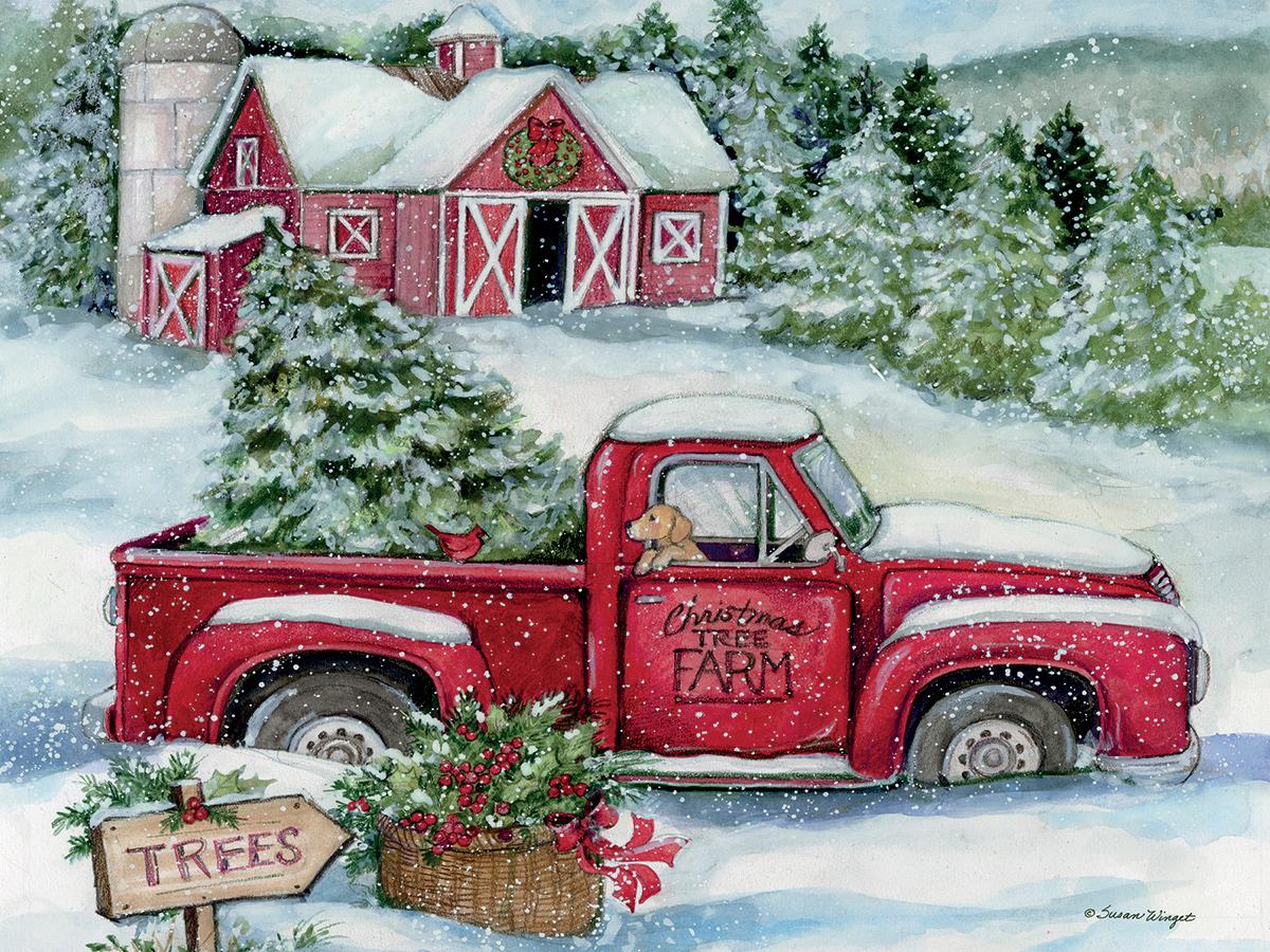 Santas Truck Farm Jigsaw Puzzle