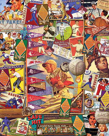 Batter Up Nostalgic / Retro Jigsaw Puzzle