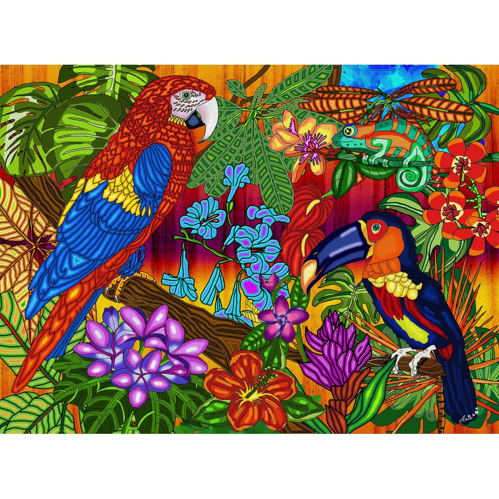 Tropics Birds Jigsaw Puzzle