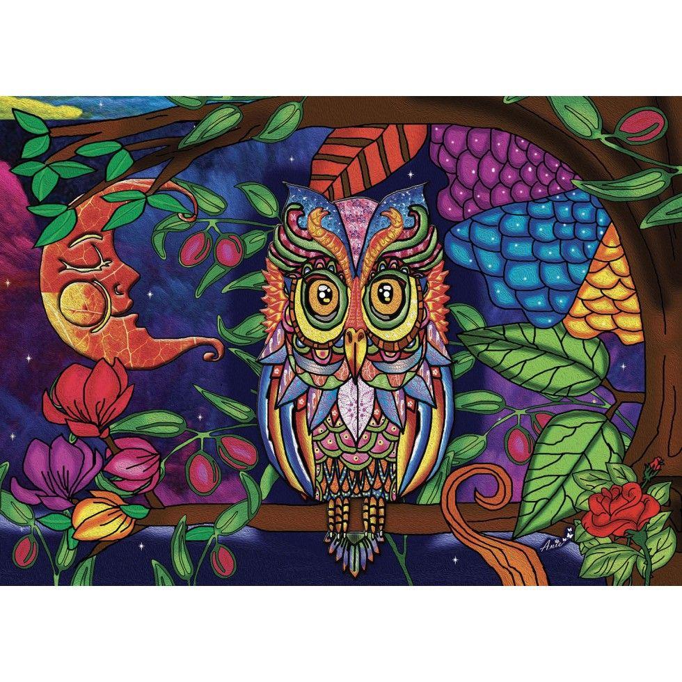 Starry Night Owl Jigsaw Puzzle