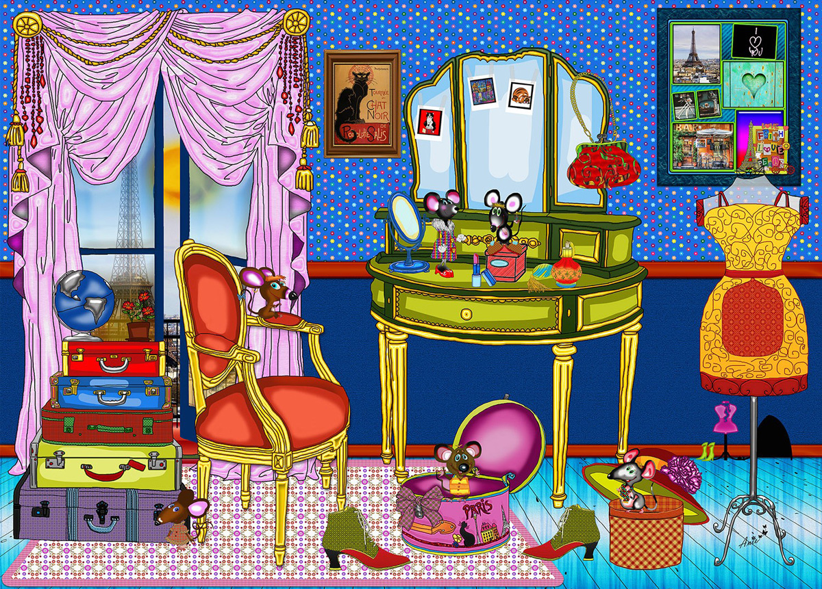 One Day In Paris Animals Jigsaw Puzzle