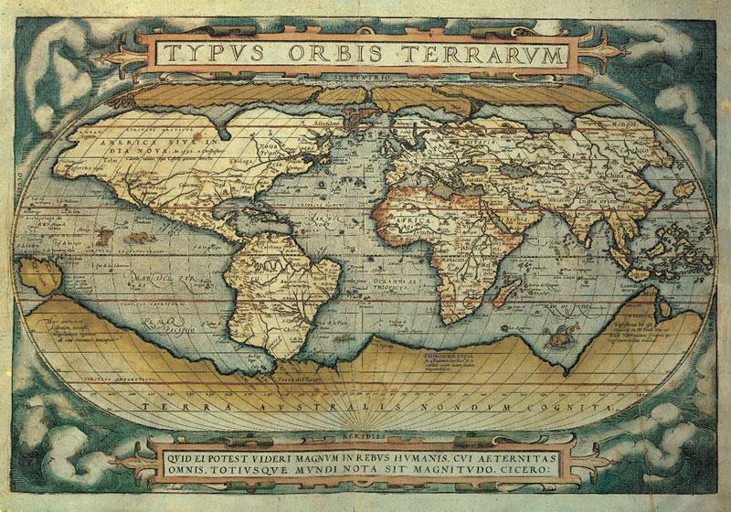 Typus Orbis Terrarum Maps Jigsaw Puzzle