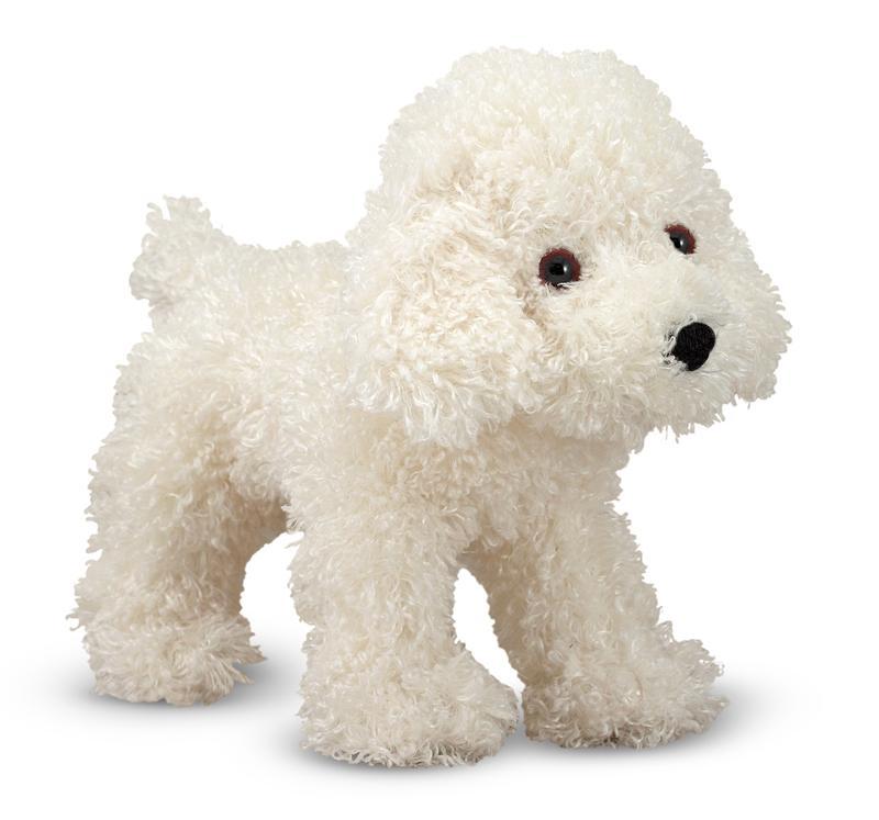 Fluffy Bichon Frise Plush Toy