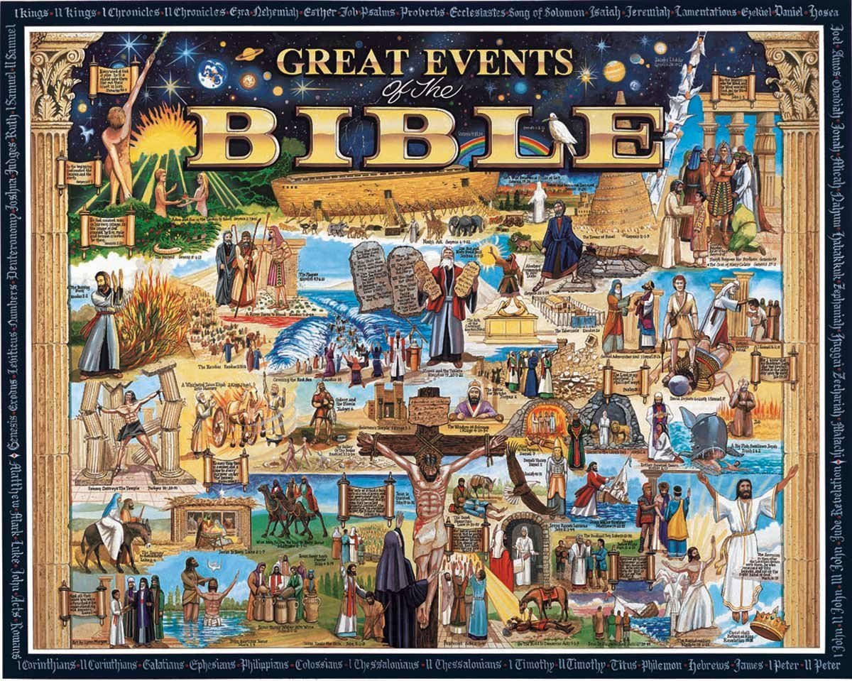 Great Events of the Bible Collage Jigsaw Puzzle