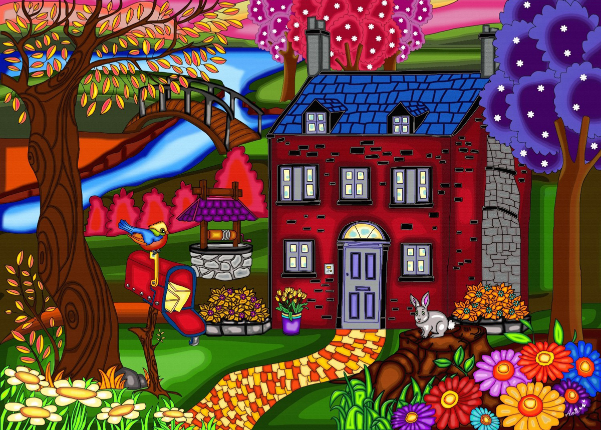 Country Living Domestic Scene Jigsaw Puzzle