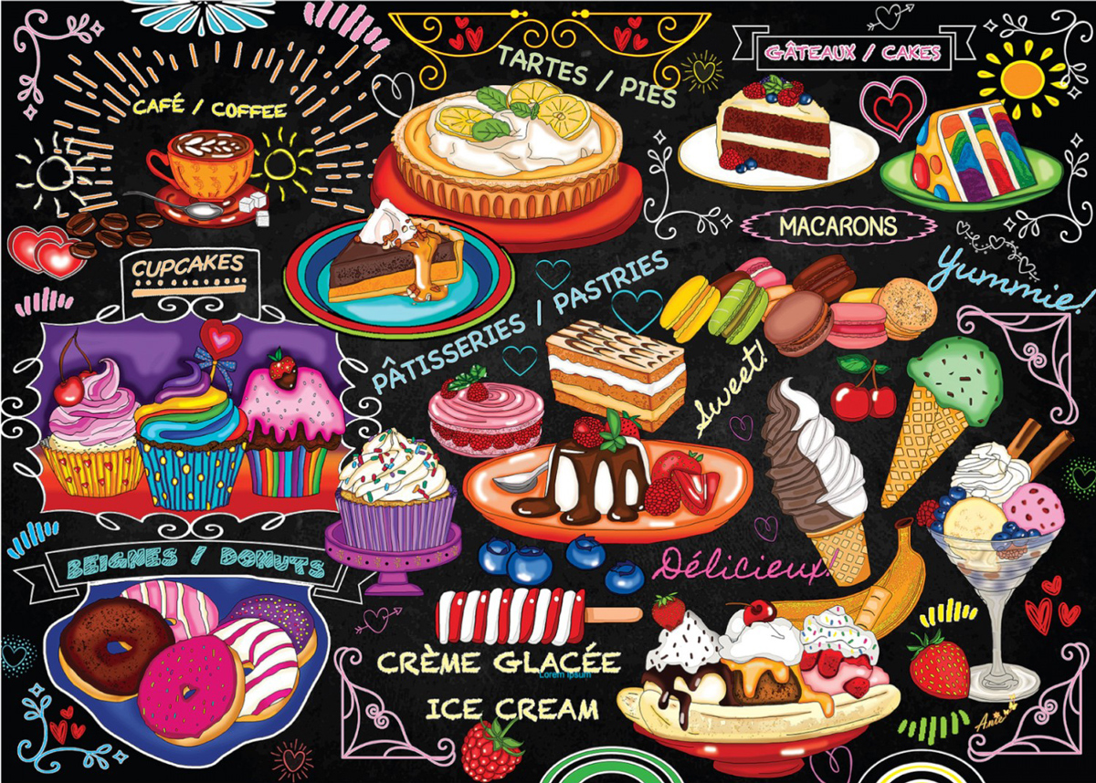 All That Sweetness Food and Drink Jigsaw Puzzle