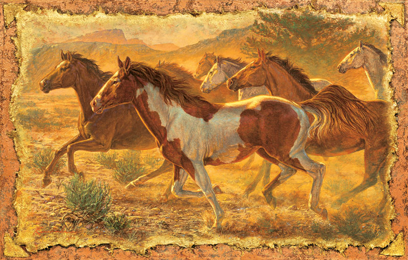 A Cloud of Dust Horses Jigsaw Puzzle