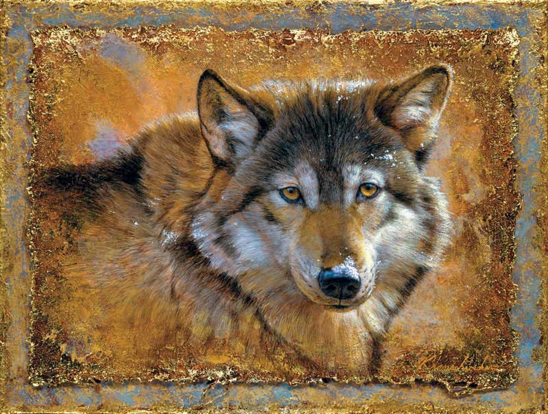 Crystals & Gold Wolves Jigsaw Puzzle