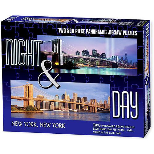 New York City - Night & Day Panoramic New York Jigsaw Puzzle