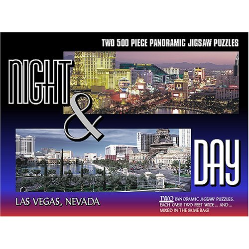 Las Vegas - Night & Day Panoramic Las Vegas Jigsaw Puzzle