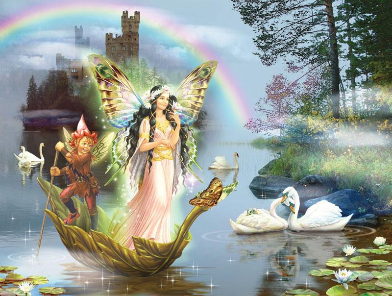 Swan Lake Fairy Fairies Jigsaw Puzzle