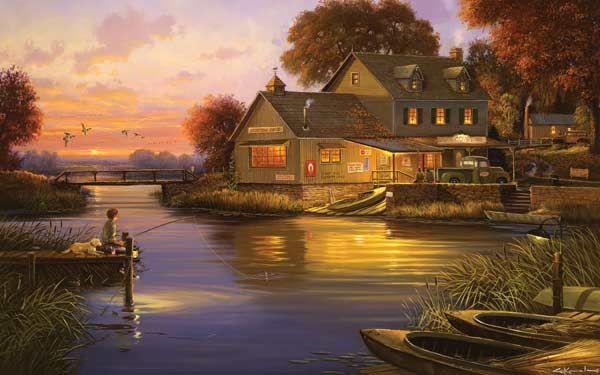 Hunters Cove Fishing Jigsaw Puzzle