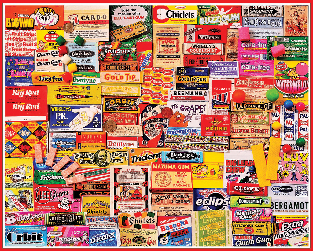 Gum Wrappers Food and Drink Jigsaw Puzzle