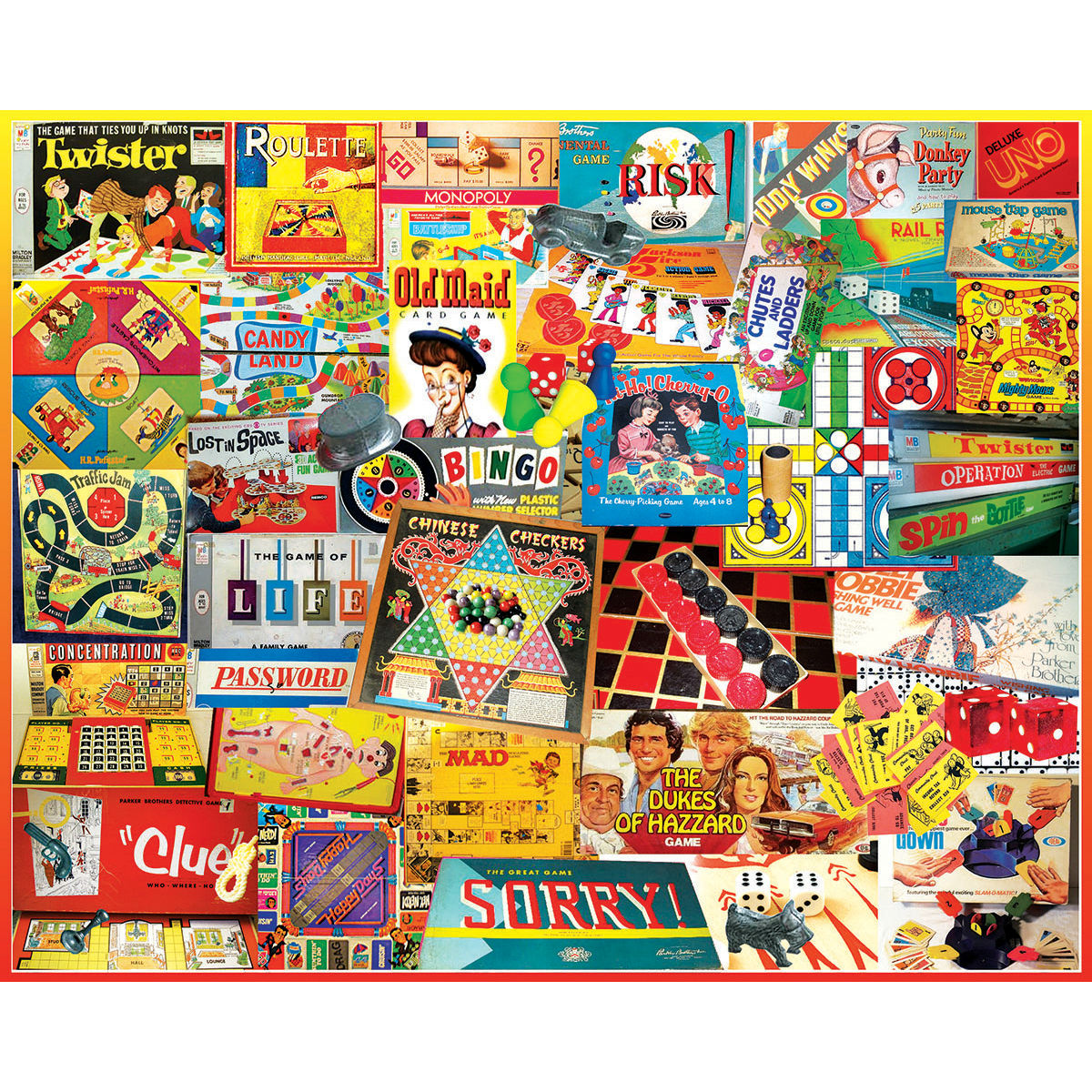 Games We Played Nostalgic / Retro Jigsaw Puzzle
