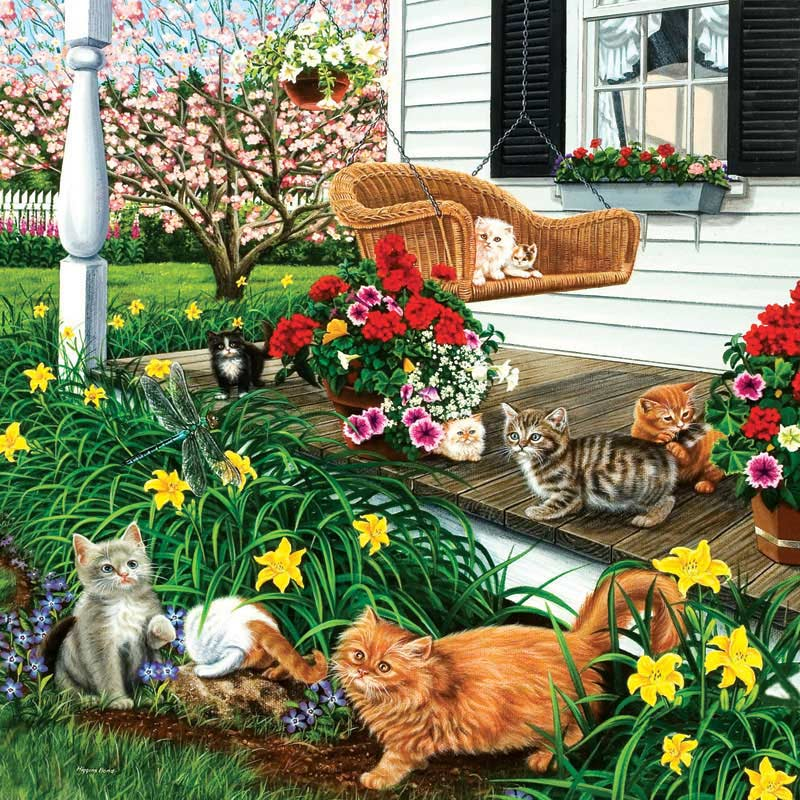 In the Swing of It - Scratch and Dent Cats Jigsaw Puzzle