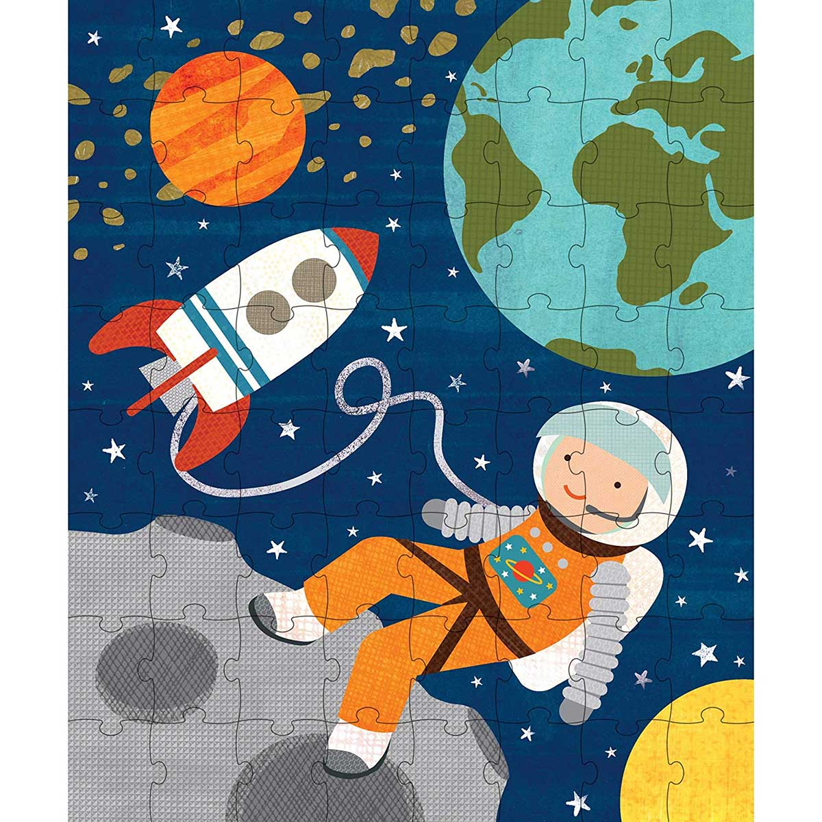 картинка пазл космонавт время