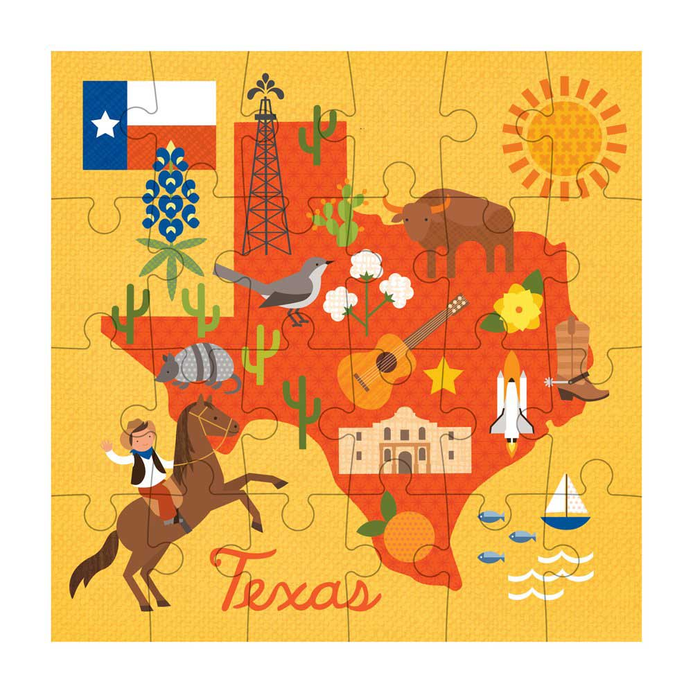 Texas State Maps / Geography Jigsaw Puzzle