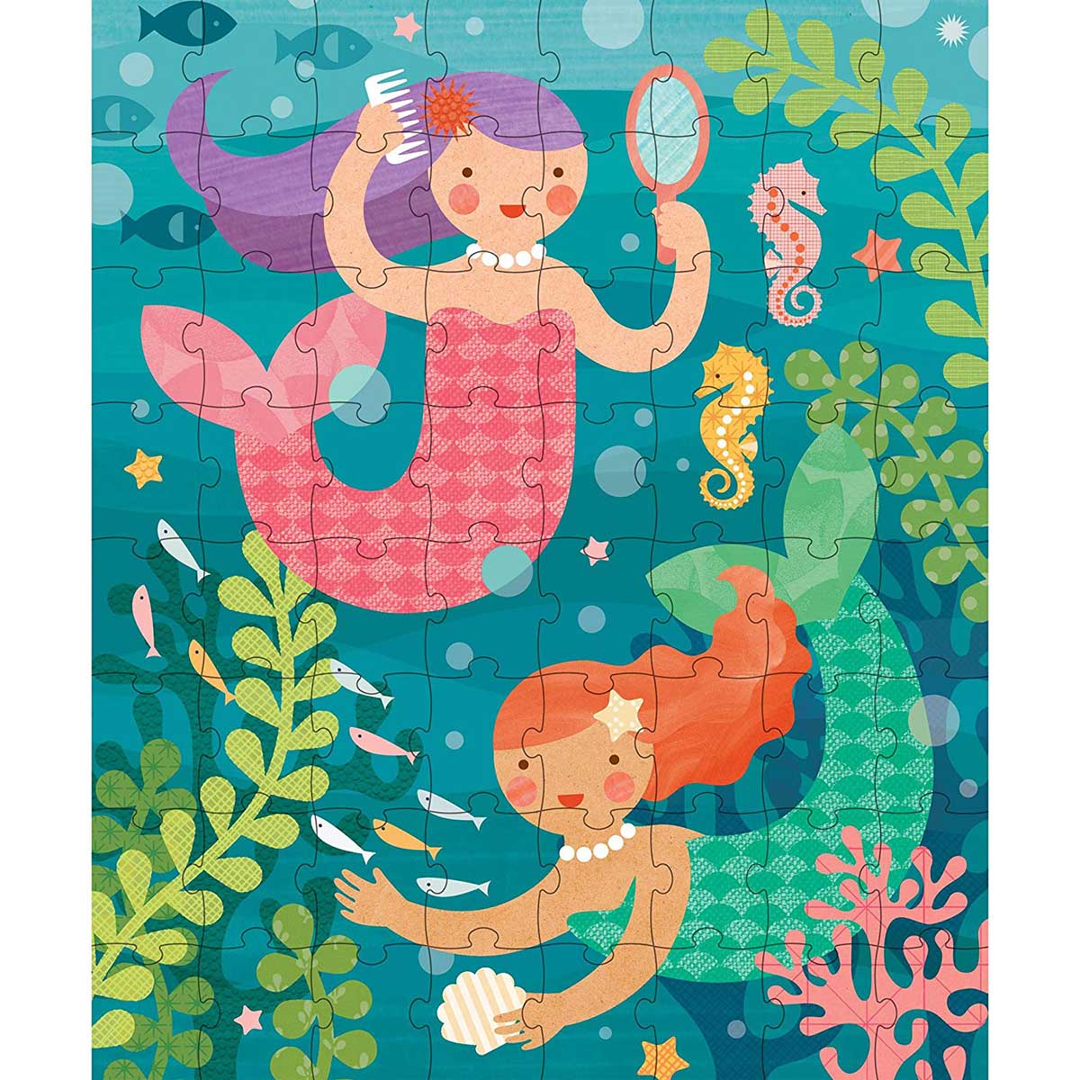 Playful Mermaids Mermaids Jigsaw Puzzle