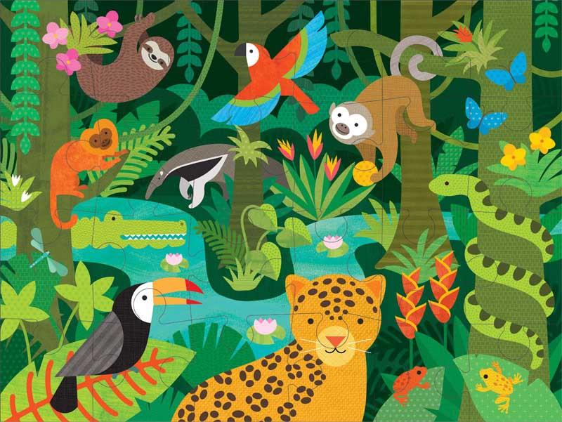 Wild Rainforest Jungle Animals Jigsaw Puzzle