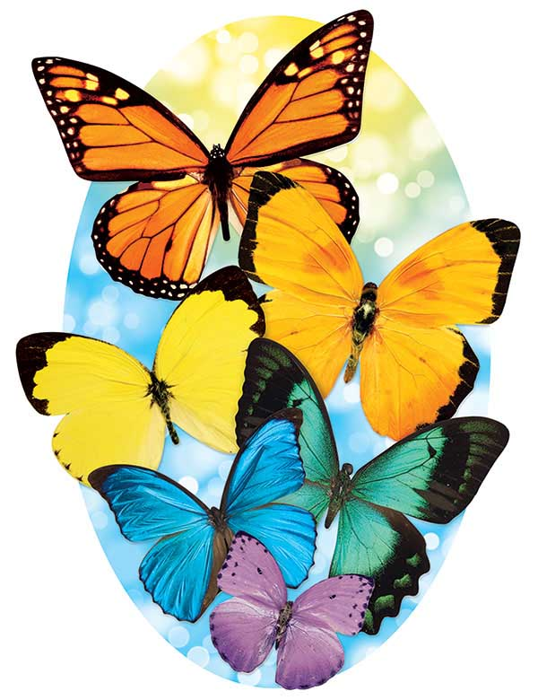 Butterflies (Mini) Butterflies and Insects Jigsaw Puzzle