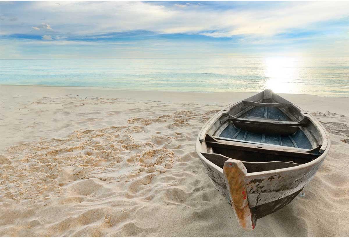 Boat on Beach Beach Jigsaw Puzzle
