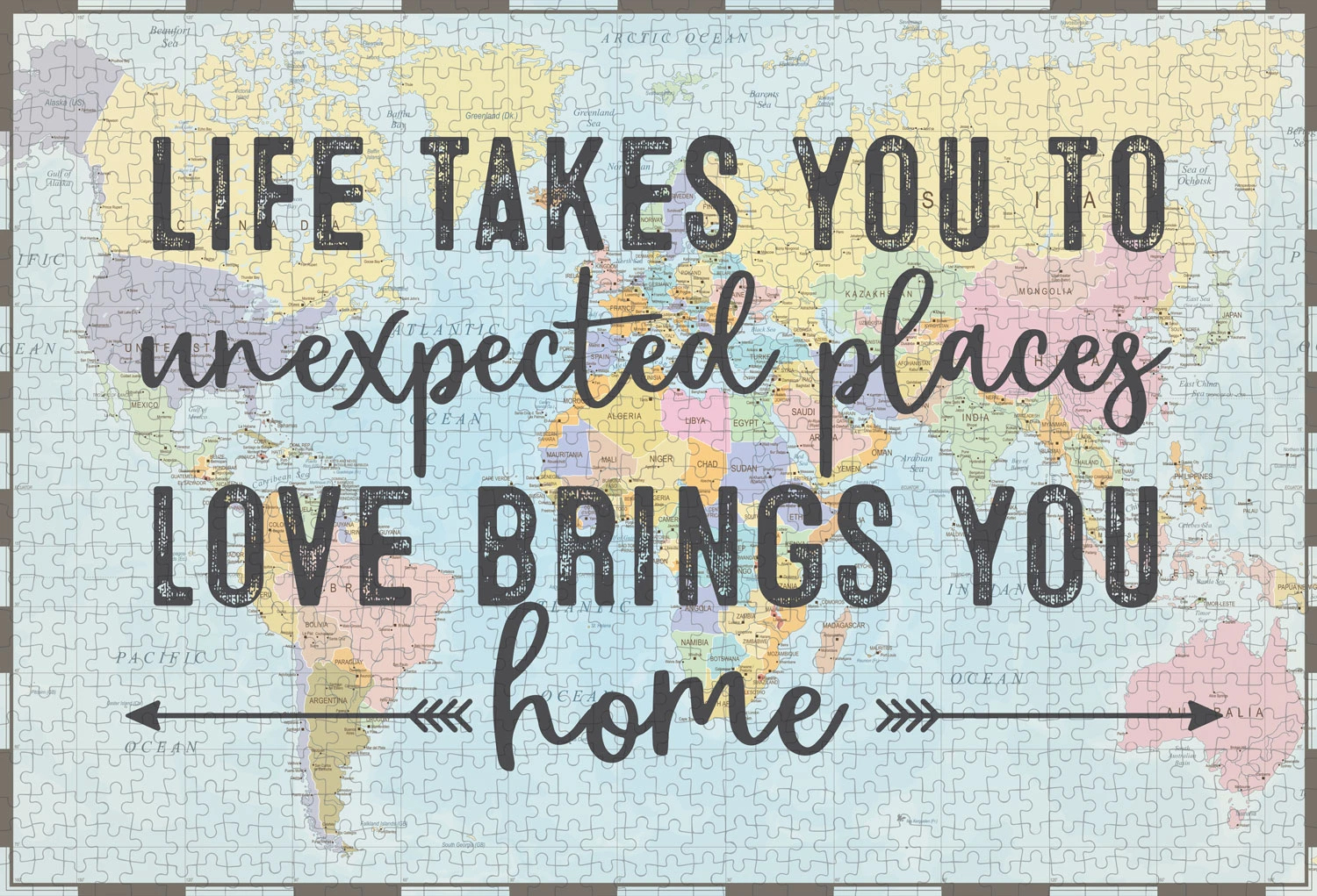 Love Brings Home Inspirational Jigsaw Puzzle