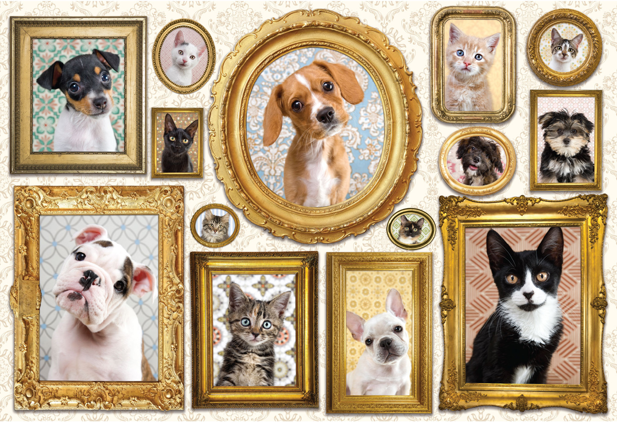 Pet Gallery Wall Dogs Jigsaw Puzzle