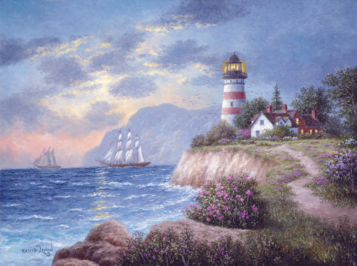 White Cliff Bay Lighthouses Jigsaw Puzzle