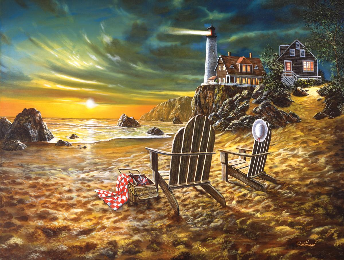 Seaside Rendezvous Beach Jigsaw Puzzle