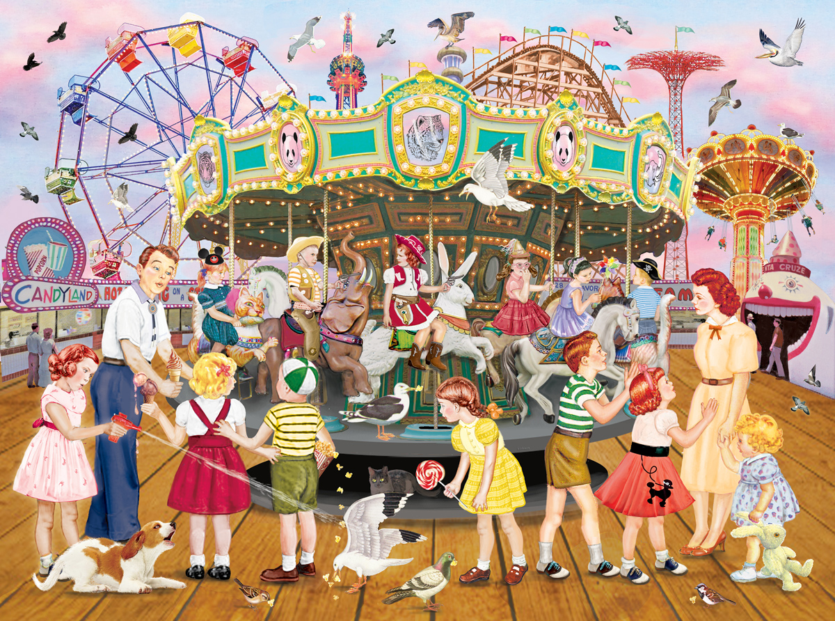 Carousel Party Carnival Jigsaw Puzzle