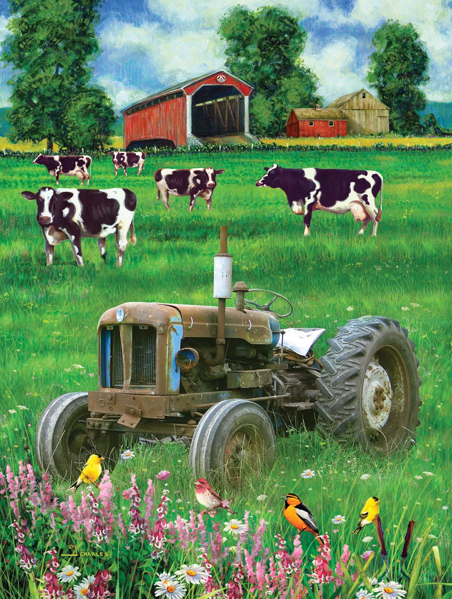 Blue K Tractor Farm Jigsaw Puzzle