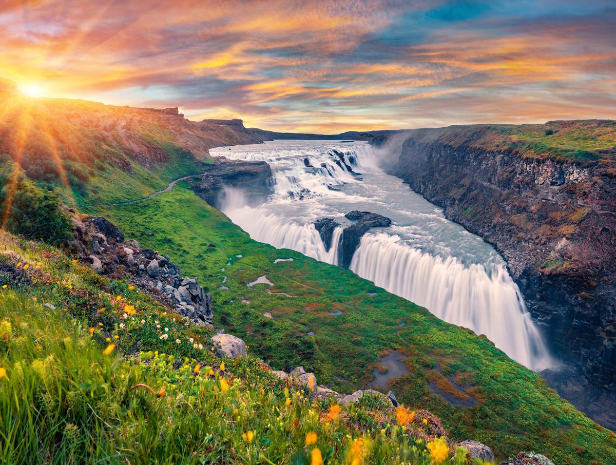 Gullfoss Waterfall, Iceland Photography Jigsaw Puzzle