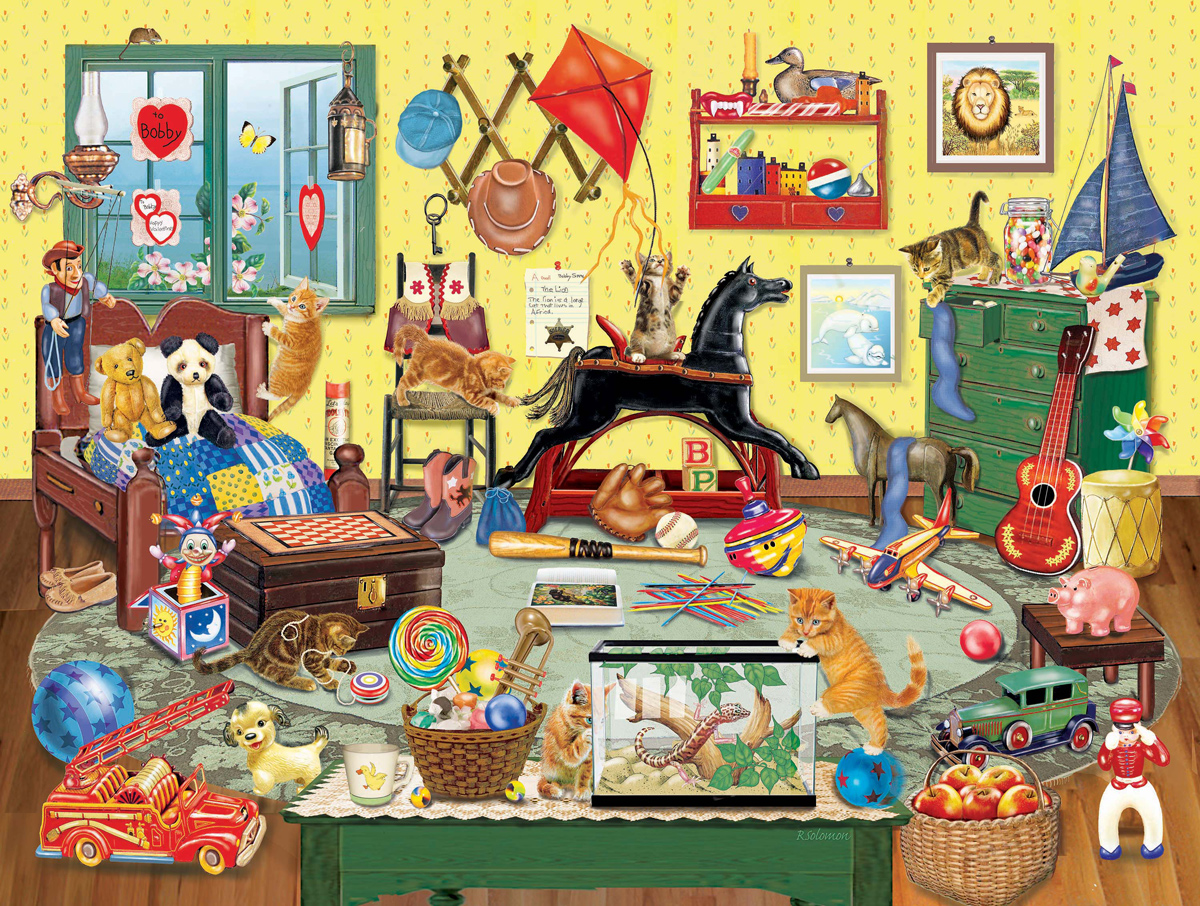 Fun In Bobby's Room Jigsaw Puzzle