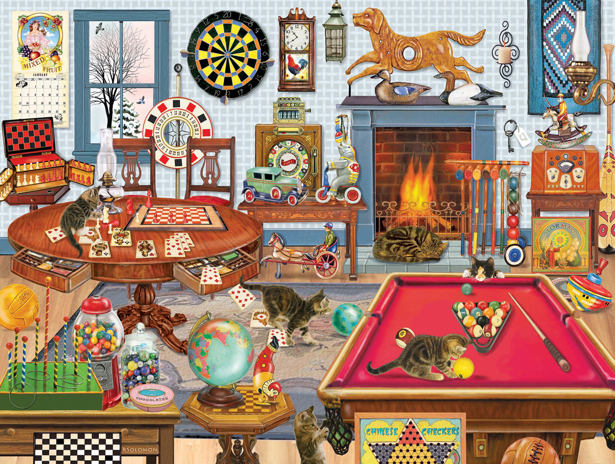Kittens Poker Game Jigsaw Puzzle