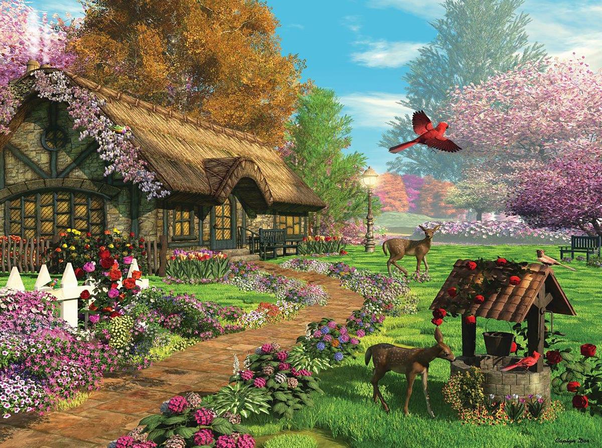 Peaceful Retreat Landscape Jigsaw Puzzle