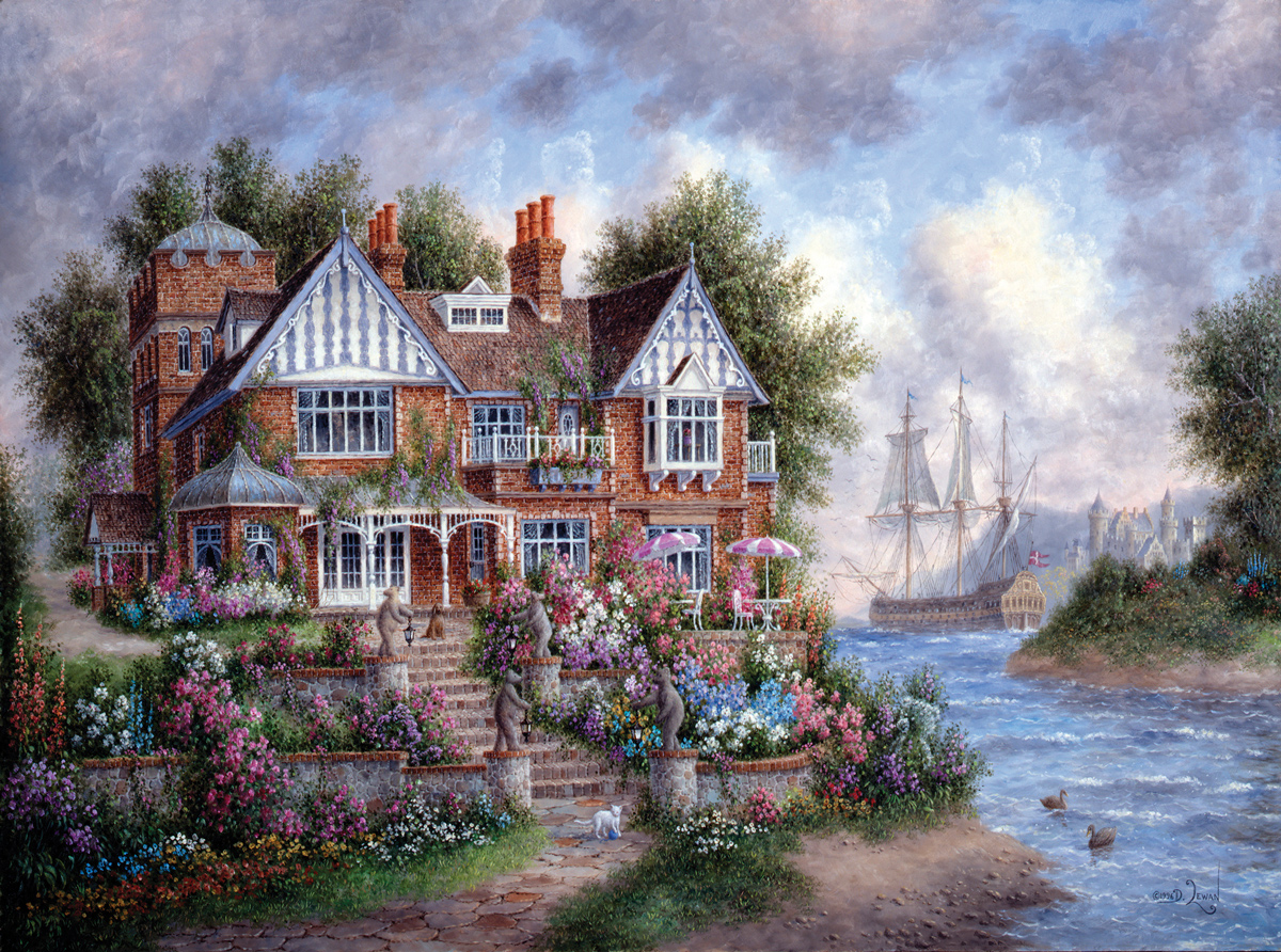 """Dr. Puzzle """"The Barrister's Mansion"""" Jigsaw Puzzle"""