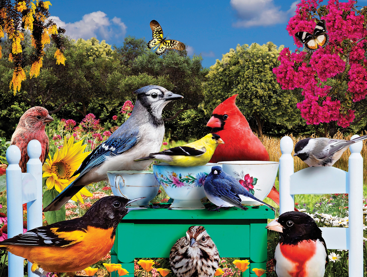 Birds Tea Party Birds Jigsaw Puzzle