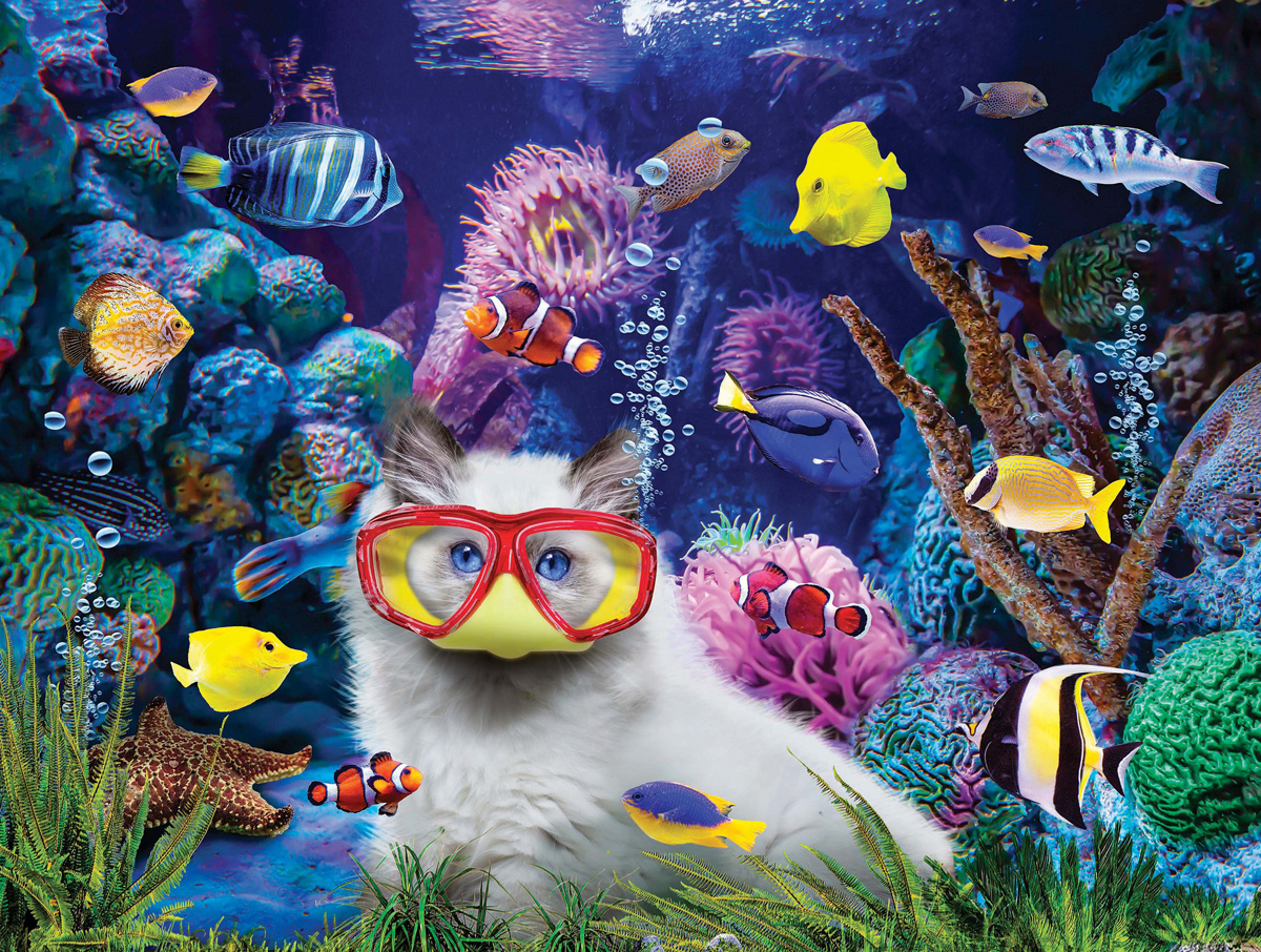 Kittens In A Fish Tank Cats Jigsaw Puzzle
