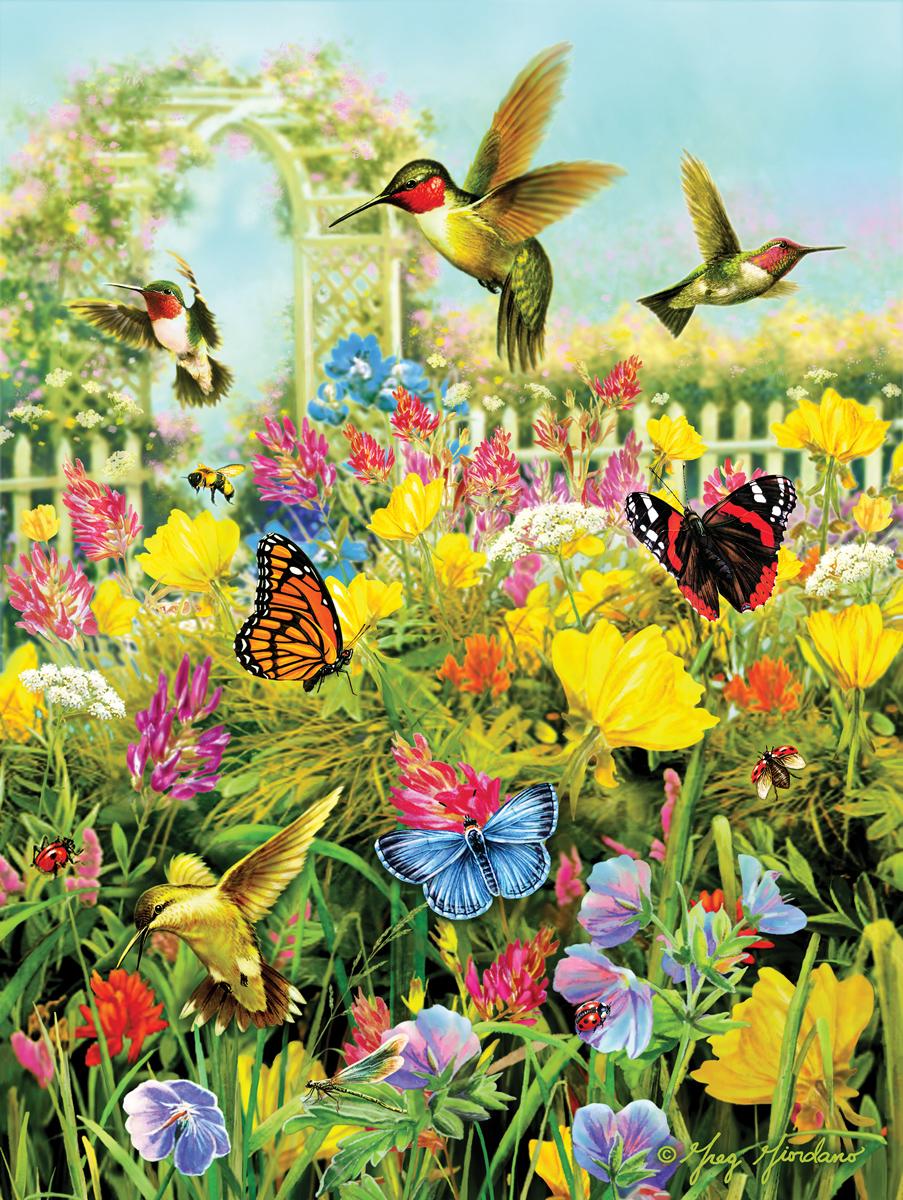 Hummingbirds and Arbor Birds Jigsaw Puzzle