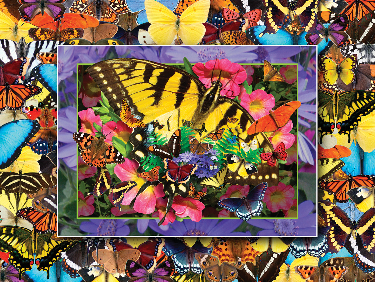 Butterfly Heaven Butterflies and Insects Jigsaw Puzzle