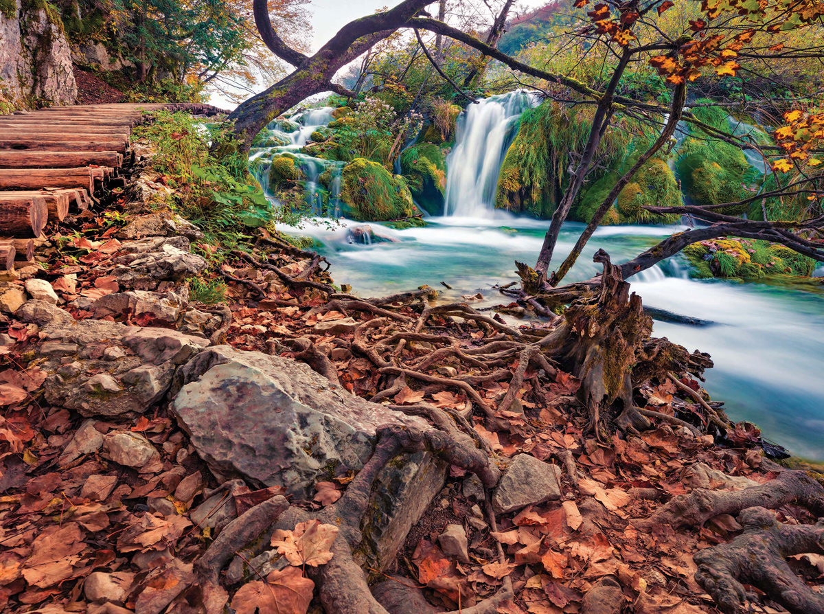 Exotic Autumn and Waterfall, Croatia Jigsaw Puzzle