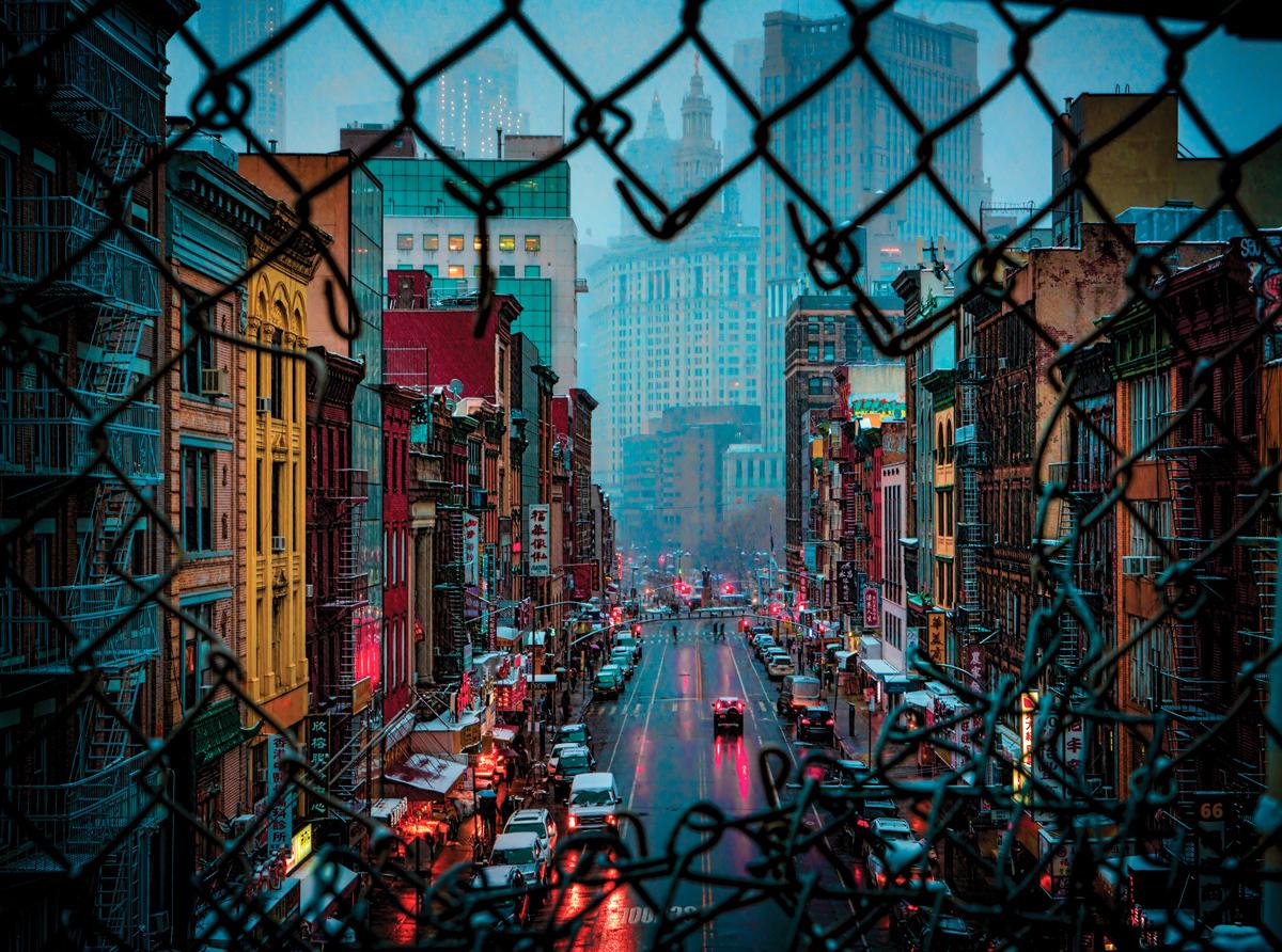 Chinatown Weather Street Scene Jigsaw Puzzle
