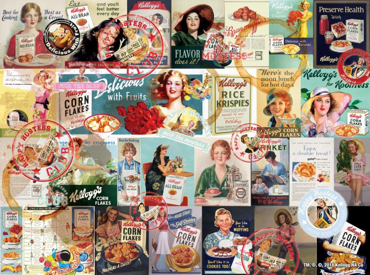 Happy Hostess Collage Food and Drink Jigsaw Puzzle