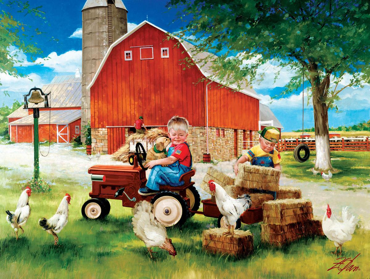 Dawn To Dusk Farm Farm Jigsaw Puzzle
