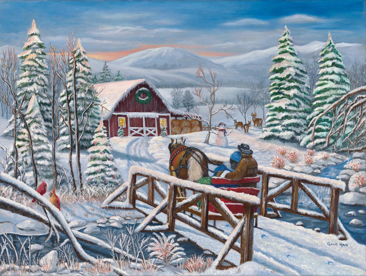 Blossom Valley Domestic Scene Jigsaw Puzzle