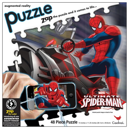 Augmented Reality - Ultimate Spiderman Cartoons 3D Puzzle